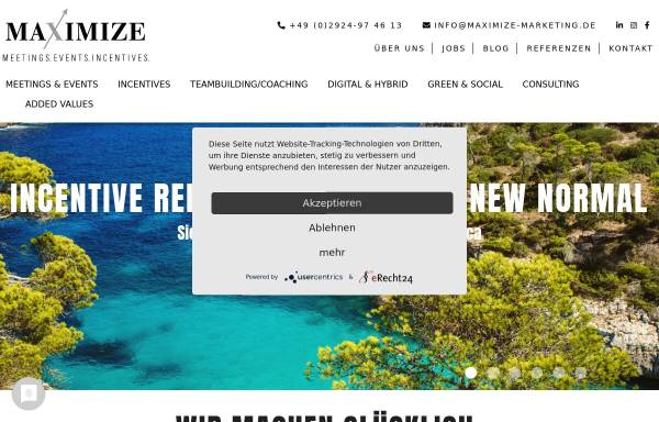 Vorschau von www.maximize-marketing.de, Maximize Marketing Agentur für Sales und Marketing