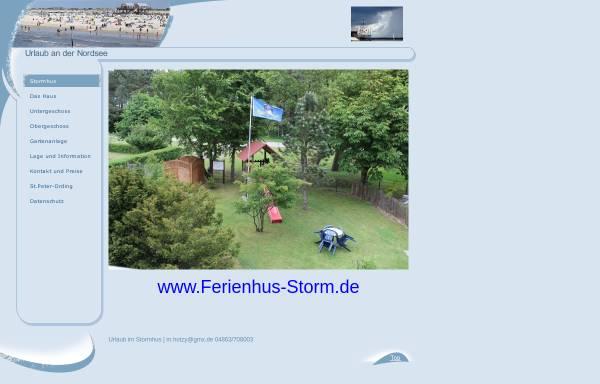Vorschau von www.ferienhus-storm.de, Ferienhus Storm