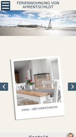 Vorschau der mobilen Webseite www.ahrentschildt.de, Ferienwohnung von Ahrentschildt
