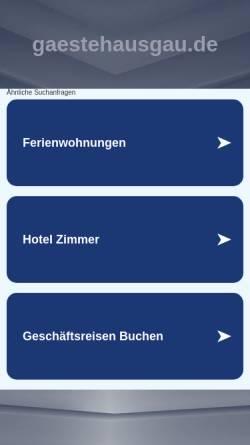 Vorschau der mobilen Webseite gaestehausgau.de, Gästehaus Gau