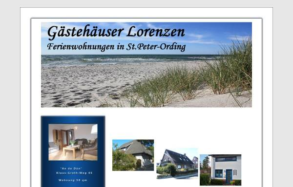 Vorschau von www.lorenzen-ferienwohnung.de, Gästehäuser Lorenzen