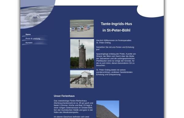 Vorschau von www.tante-ingrids-hus.de, Tante Ingrids Hus