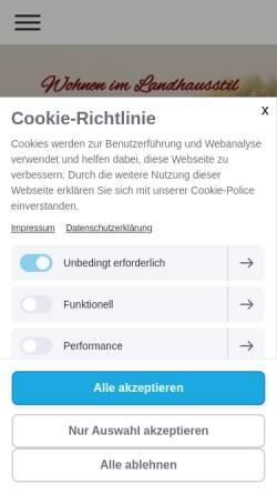 Vorschau der mobilen Webseite www.wohnen-im-landhausstil.de, Wohnen im Landhausstil