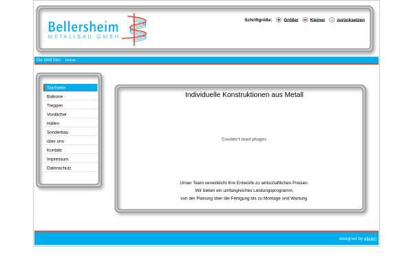 Vorschau von www.bellersheim-metallbau.de, Bellersheim Metallbau GmbH