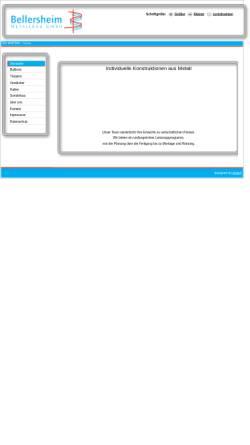 Vorschau der mobilen Webseite www.bellersheim-metallbau.de, Bellersheim Metallbau GmbH