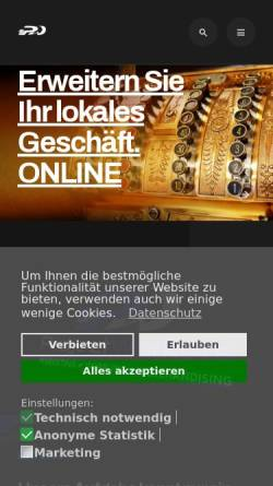 Vorschau der mobilen Webseite www.projectworkers.de, Projectworkers Frank Rudwinsky