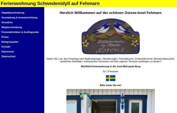 Vorschau von www.fehmarn-ferienwohnung-lorenz.de, Ferienwohnung Lorenz