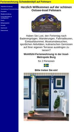 Vorschau der mobilen Webseite www.fehmarn-ferienwohnung-lorenz.de, Ferienwohnung Lorenz