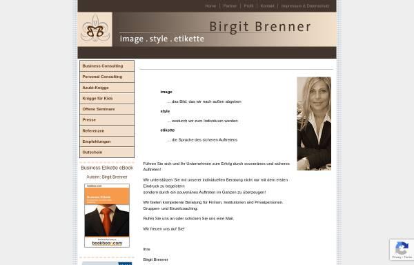 Vorschau von www.b-brenner.com, Birgit Brenner: Image, Style, Etikette