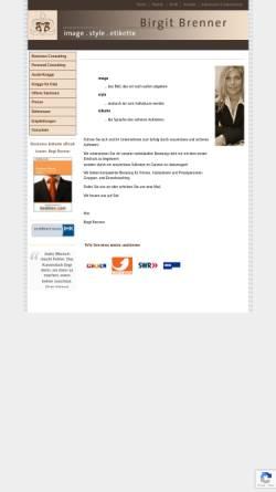 Vorschau der mobilen Webseite www.b-brenner.com, Birgit Brenner: Image, Style, Etikette