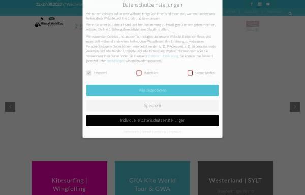 Vorschau von www.kitesurfworldcup.de, Kitesurf World Cup