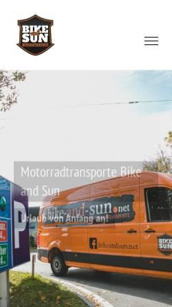 Vorschau der mobilen Webseite www.bike-and-sun.net, Bike-and-sun.de Armin Geier