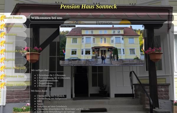 Vorschau von www.sonneck.harz.de, Wellness-Pension Sonneck