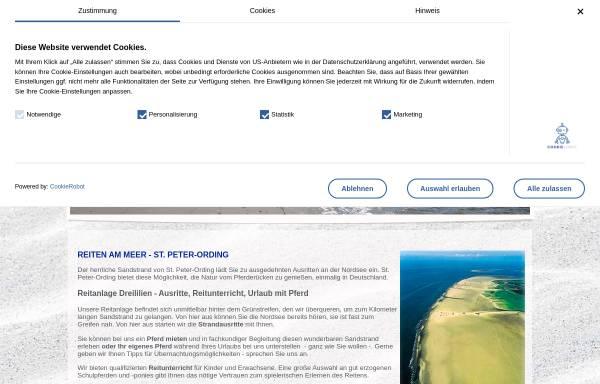 Vorschau von www.reiten-am-meer.de, Reitanlage Dreililien, Inhaber Olaf Lilienthal
