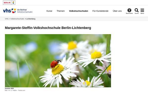 Vorschau von www.berlin.de, Volkshochschule Berlin-Lichtenberg