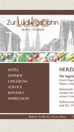Vorschau der mobilen Webseite www.hotel-ludwigsbahn.de, Hotel Ludwigsbahn