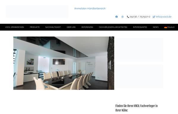 Vorschau von www.vocil.de, VOCIL German Stretch Ceiling GmbH