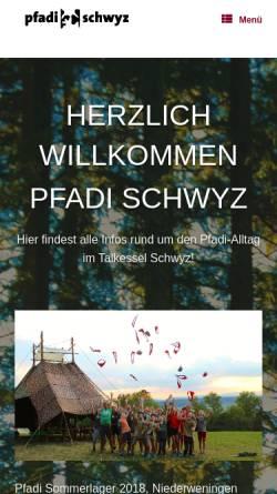 Vorschau der mobilen Webseite www.chumdochau.ch, Pfadi Schwyz