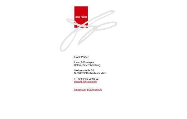 Vorschau von praeder.de, Frank Präder