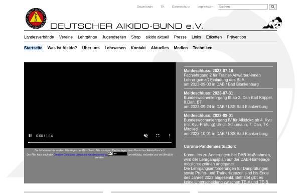 Vorschau von www.aikido-bund.de, Deutscher Aikido-Bund e.V.