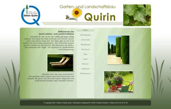 Vorschau von www.quirin-galabau.de, Garten- und Landschaftsbau Stefan Quirin