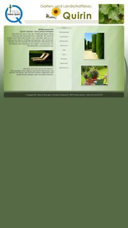 Vorschau der mobilen Webseite www.quirin-galabau.de, Garten- und Landschaftsbau Stefan Quirin