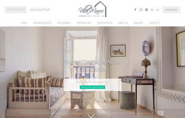 Vorschau von www.villa-maroc.com, Villa Maroc