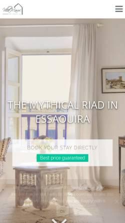Vorschau der mobilen Webseite www.villa-maroc.com, Villa Maroc