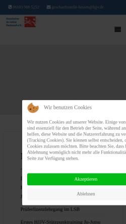 Vorschau der mobilen Webseite www.hjjv.de, Hessischer Ju-Jutsu Verband e.V.
