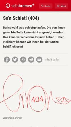 Vorschau der mobilen Webseite www.radiobremen.de, Radio Bremen: Eine Rundfunk-Chronik