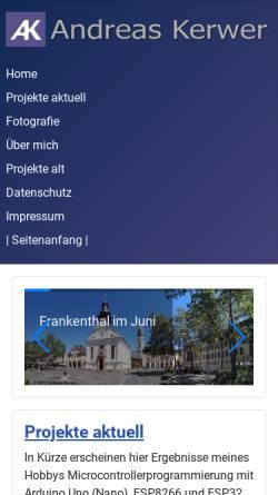 Vorschau der mobilen Webseite www.andreas-kerwer.de, Kerwer, Andreas