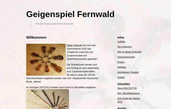 Vorschau von geigenspiel-fernwald.de, Geigenspiel Fernwald
