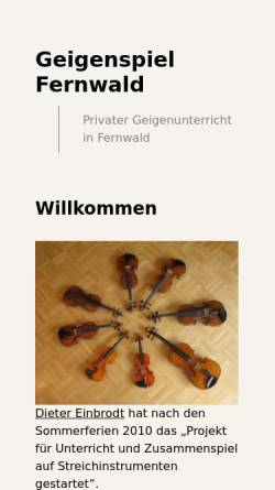 Vorschau der mobilen Webseite geigenspiel-fernwald.de, Geigenspiel Fernwald