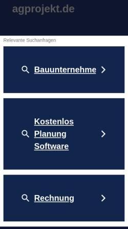 Vorschau der mobilen Webseite www.agprojekt.de, AG Projektbau GmbH
