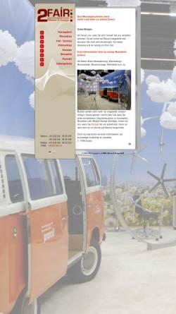 Vorschau der mobilen Webseite www.2-fair.de, 2-Fair Messe und Design