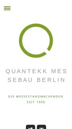 Vorschau der mobilen Webseite www.quantekk.de, Quantekk GmbH