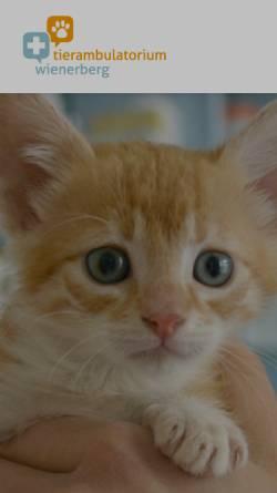 Vorschau der mobilen Webseite www.tierambulatorium-wienerberg.at, Tierambulatorium Wienerberg