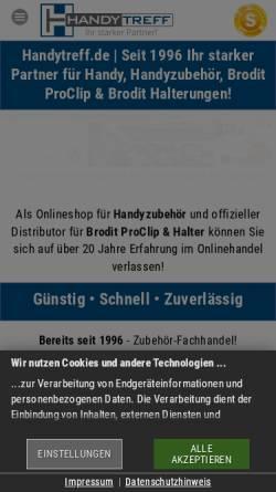 Vorschau der mobilen Webseite www.handytreff.de, Handytreff GmbH