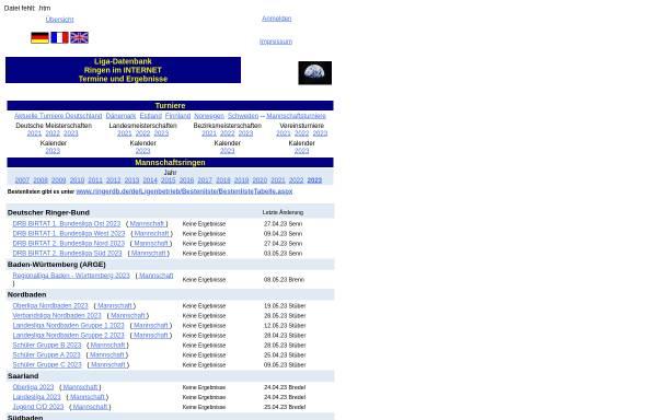 Vorschau von www.liga-db.de, Ringer-Ligendatenbank