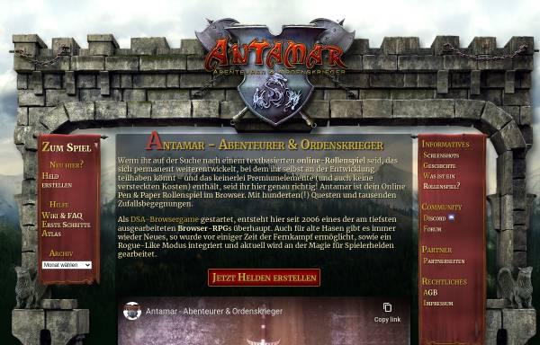 Vorschau von www.antamar.org, Antamar - Abenteurer und Ordenskrieger