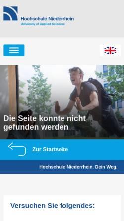 Vorschau der mobilen Webseite www.hs-niederrhein.de, Master Ernährungs- und Lebensmittelwissenschaften an der Hochschule Niederrhein