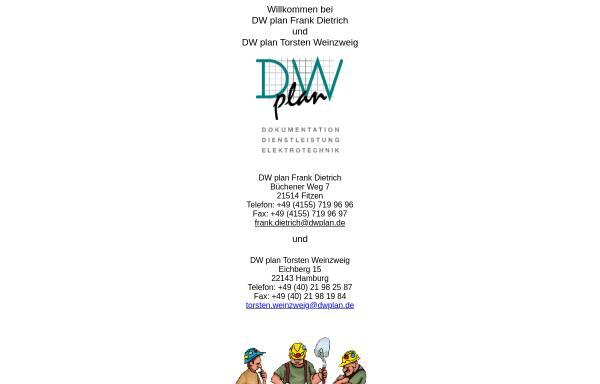 Vorschau von dwplan.de, DW plan GbR Frank Dietrich, Torsten Weinzweig