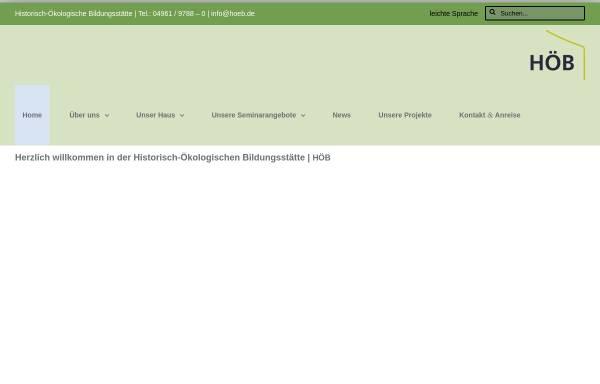 Vorschau von www.hoeb.de, Historisch-ökologische Bildungsstätte in Papenburg