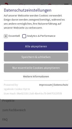 Vorschau der mobilen Webseite www.bemastergis.de, beMasterGIS