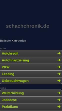 Vorschau der mobilen Webseite www.schachchronik.de, Caissa Schach-Chronik