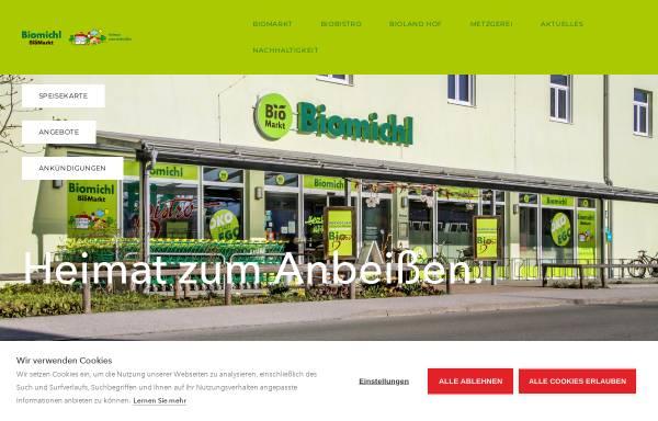 Vorschau von biomichl-weilheim.de, Biomarkt Weilheim