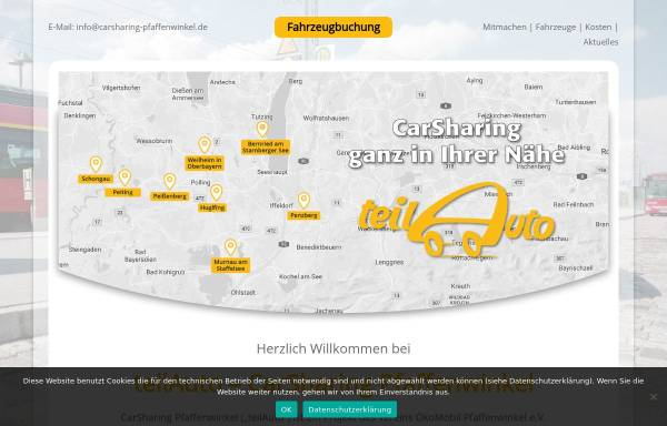 Vorschau von www.carsharing-pfaffenwinkel.de, ÖkoMobil Pfaffenwinkel e.V