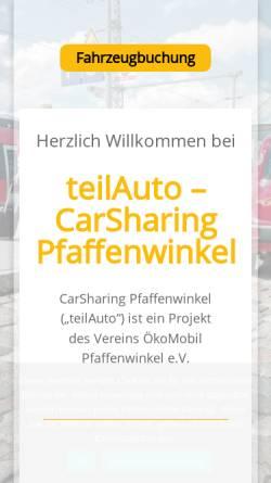 Vorschau der mobilen Webseite www.carsharing-pfaffenwinkel.de, ÖkoMobil Pfaffenwinkel e.V