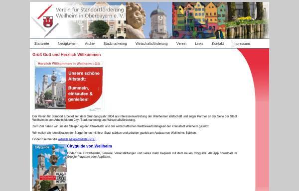 Vorschau von www.standortfoerderung-weilheim.de, Standortförderung Weilheim e.V.