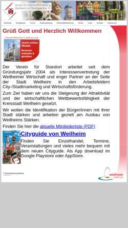 Vorschau der mobilen Webseite www.standortfoerderung-weilheim.de, Standortförderung Weilheim e.V.